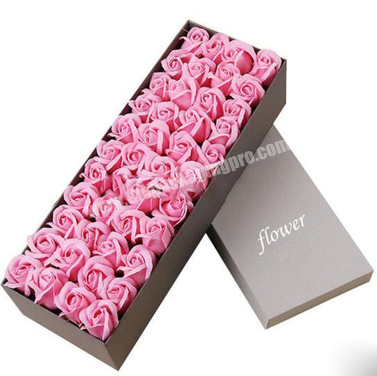 Flower Paper Gift Packaging Box with Customize Logo CMYK printing