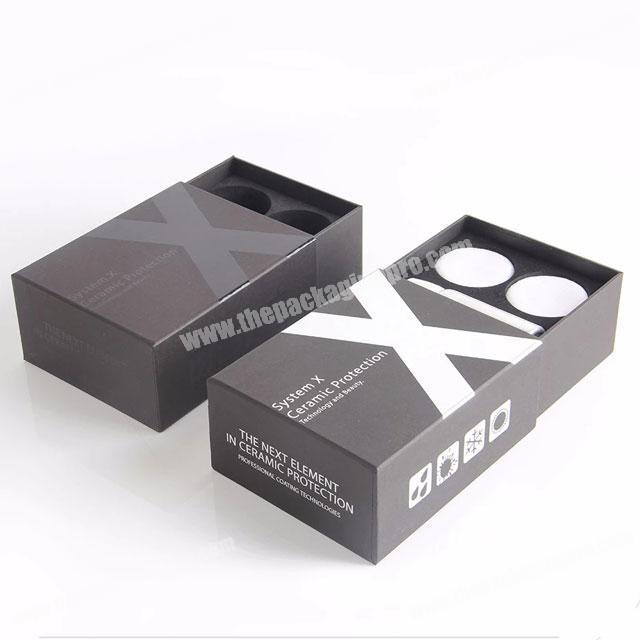 Custom foam insert fancy drawer cardboard cosmetic packaging box