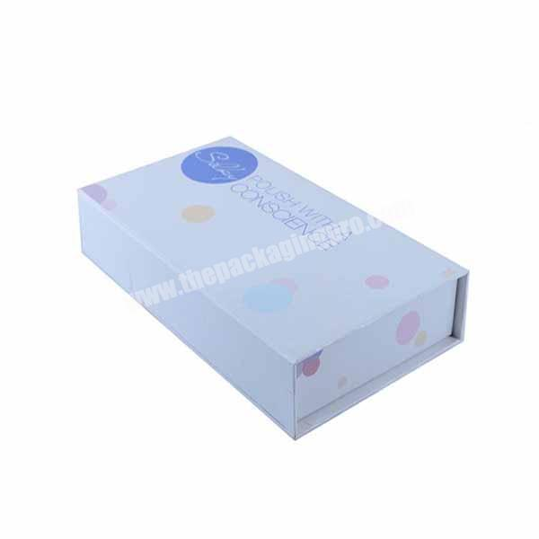 Foil stamp logo printing paper jewelry gift boxes with ribbon bow tie