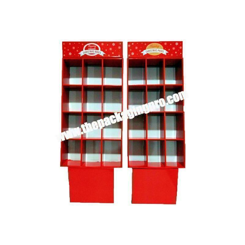 Foldable corrugated paper essential oils display box