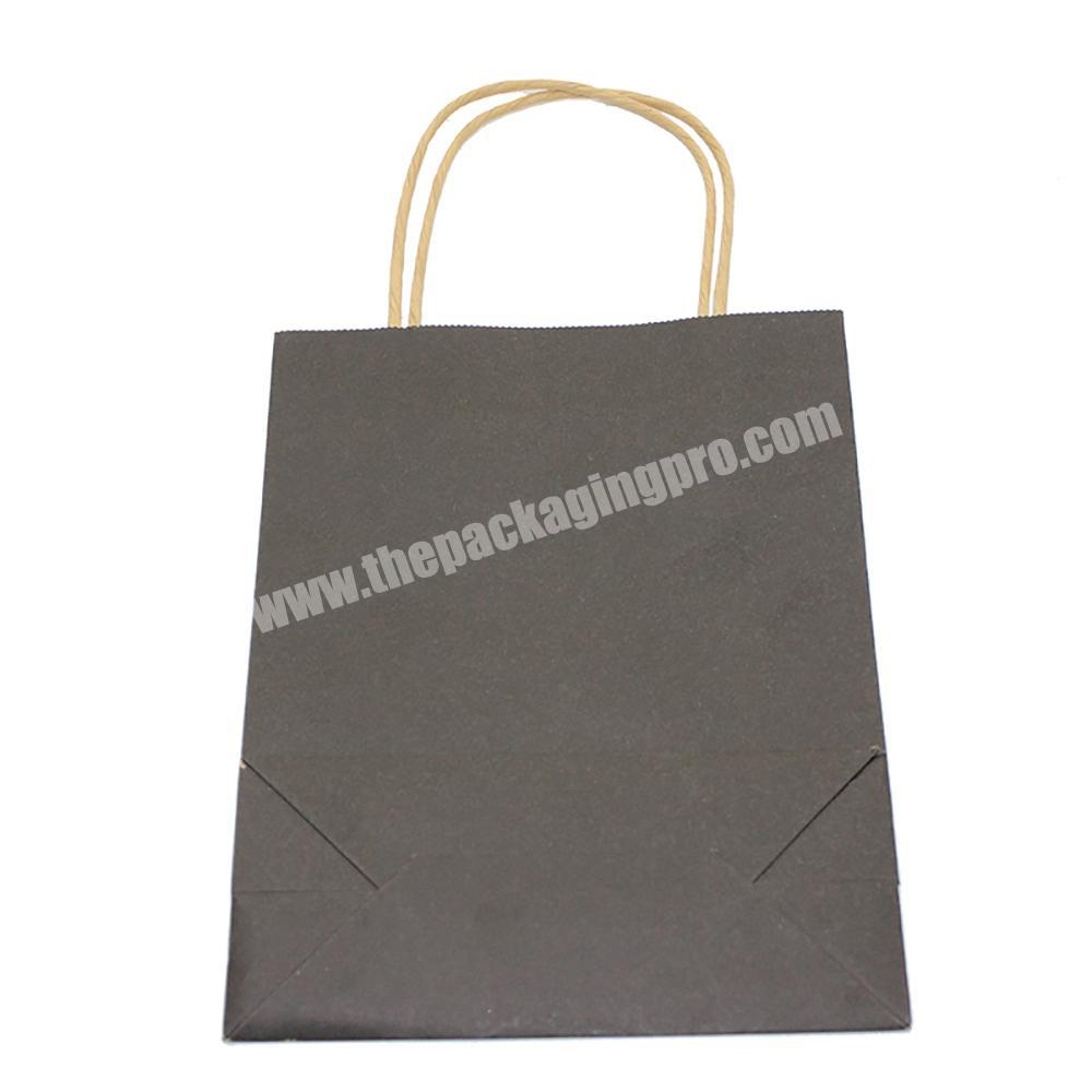 food kraft paper bags with handle,white paper bag with printed