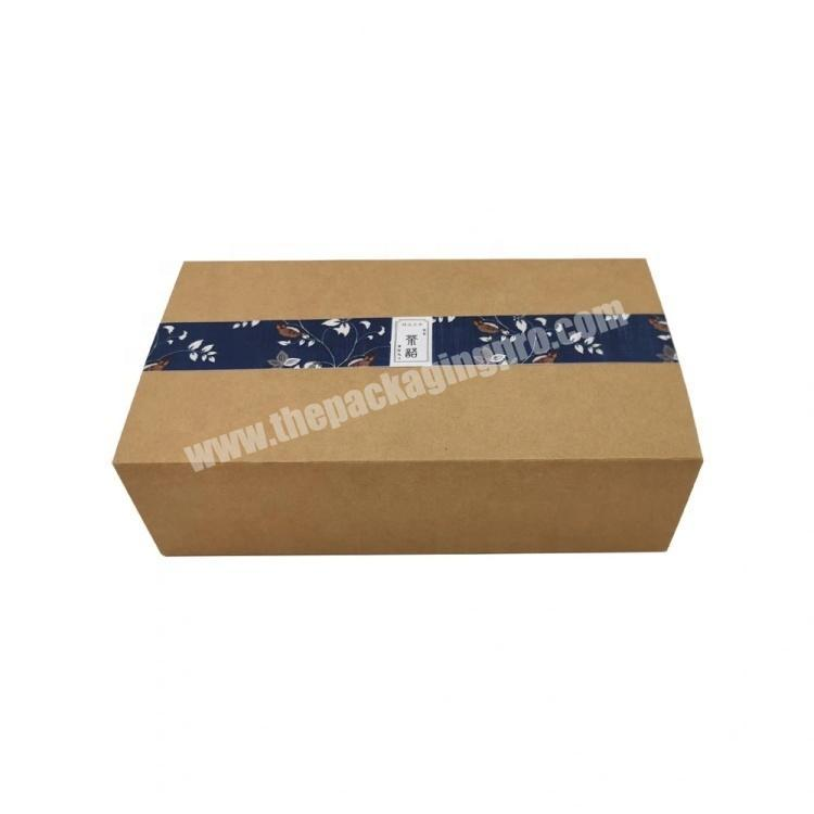 Wholesale Four Color Print Craft Paper Folding Box Coffee Packaging Box