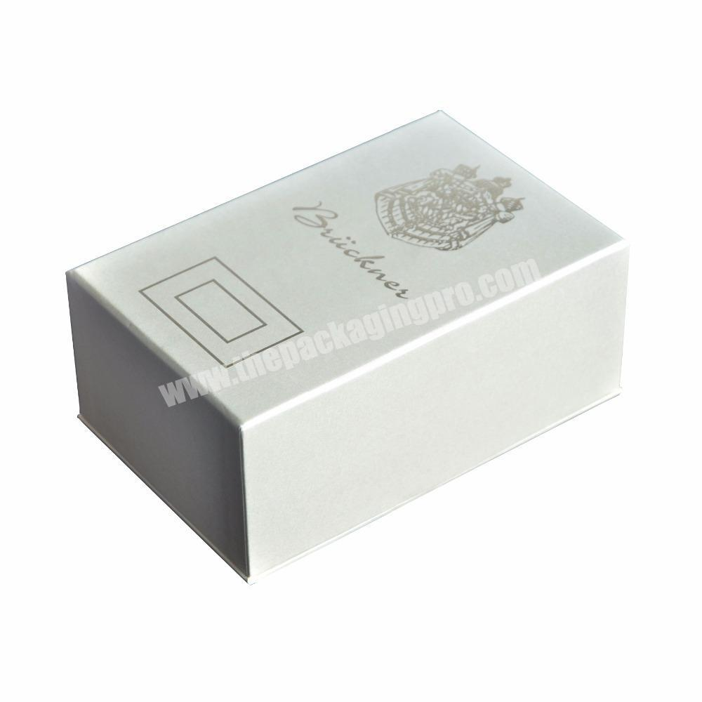 Fragrance Cosmetic Gift Packaging Box Custom Logo Hot Foil Stamping
