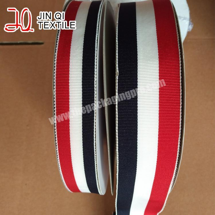 Supplier free sample  4 inch wholesale  handmade brown grosgrain ribbon for all occasion