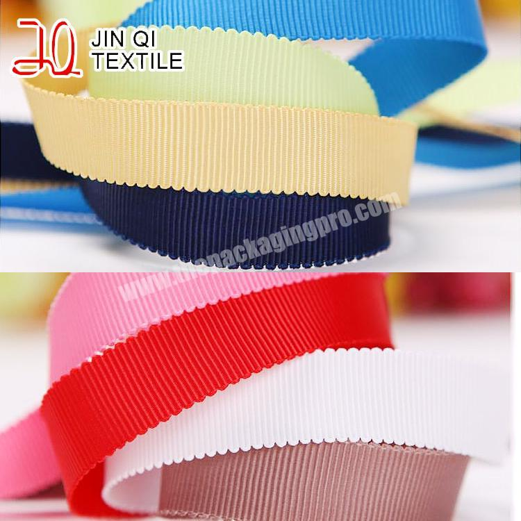 Factory free sample  4 inch wholesale  handmade brown grosgrain ribbon for all occasion