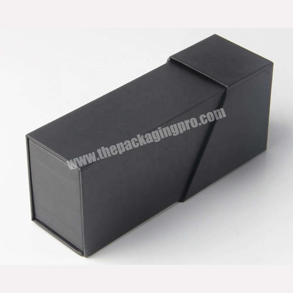 free sample clamshell black paper lipstick cosmetic sample packaging