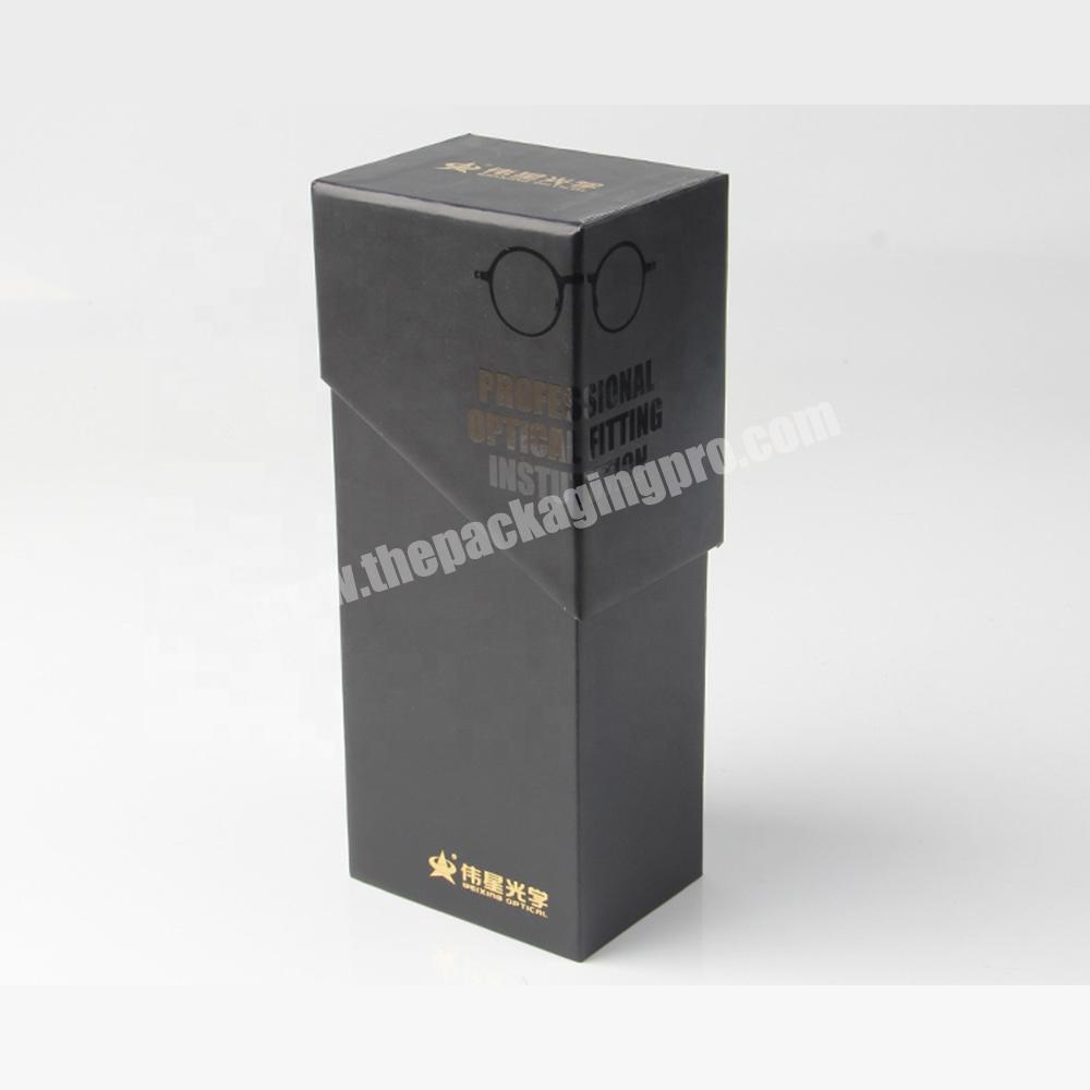 Factory free sample clamshell black paper lipstick cosmetic sample packaging