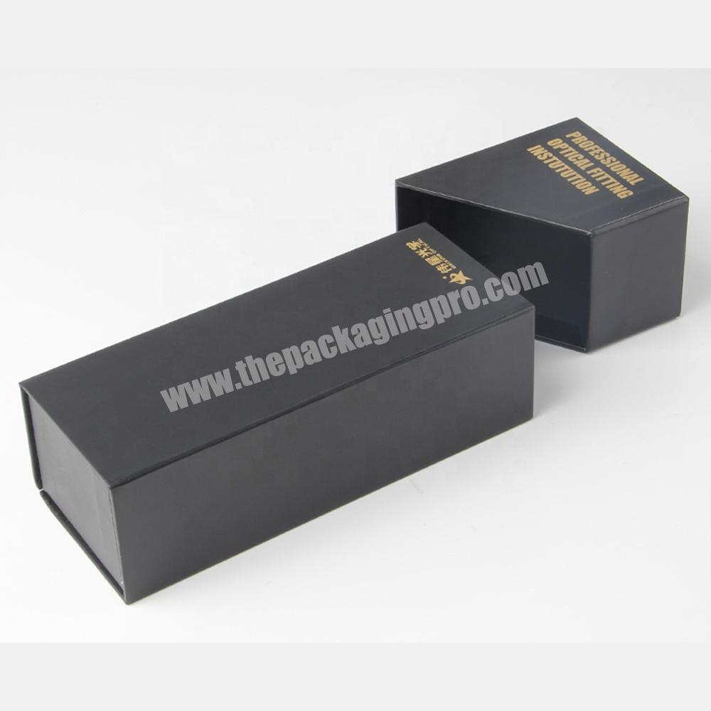 Manufacturer free sample clamshell black paper lipstick cosmetic sample packaging
