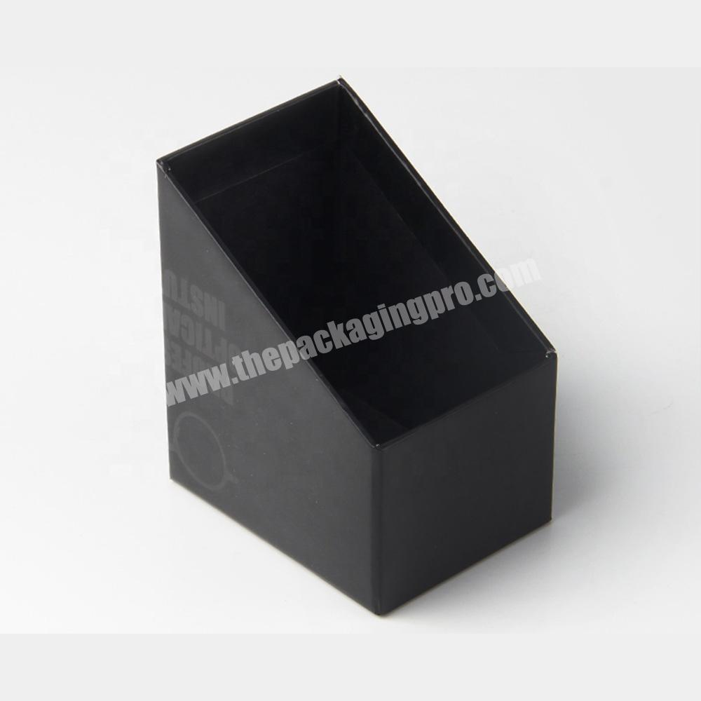 Supplier free sample clamshell black paper lipstick cosmetic sample packaging