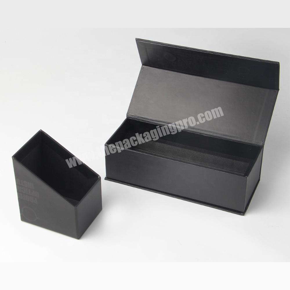 Shop free sample clamshell black paper lipstick cosmetic sample packaging