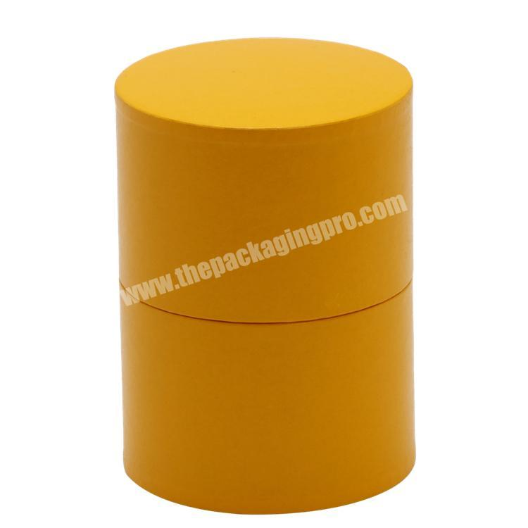 Custom Full Colors Printing Round Cylinder Tube Paper Box with Pedestal for Health ProductChemicalPerfume