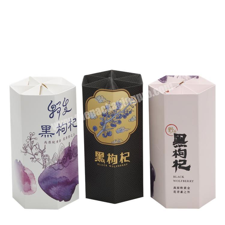 Supplier Full Colors Printing Round Cylinder Tube Paper Box with Pedestal for Health ProductChemicalPerfume