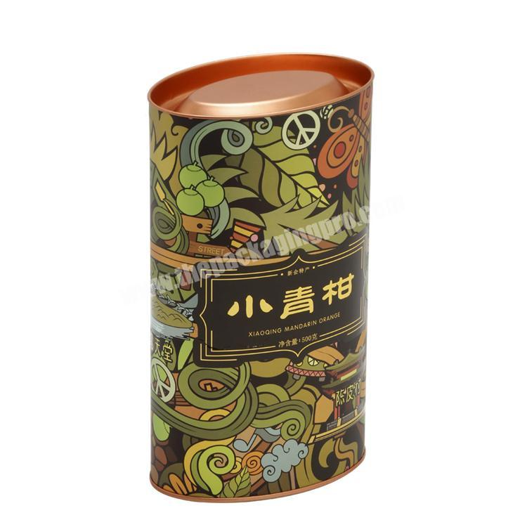 Factory Full Colors Printing Round Cylinder Tube Paper Box with Pedestal for Health ProductChemicalPerfume
