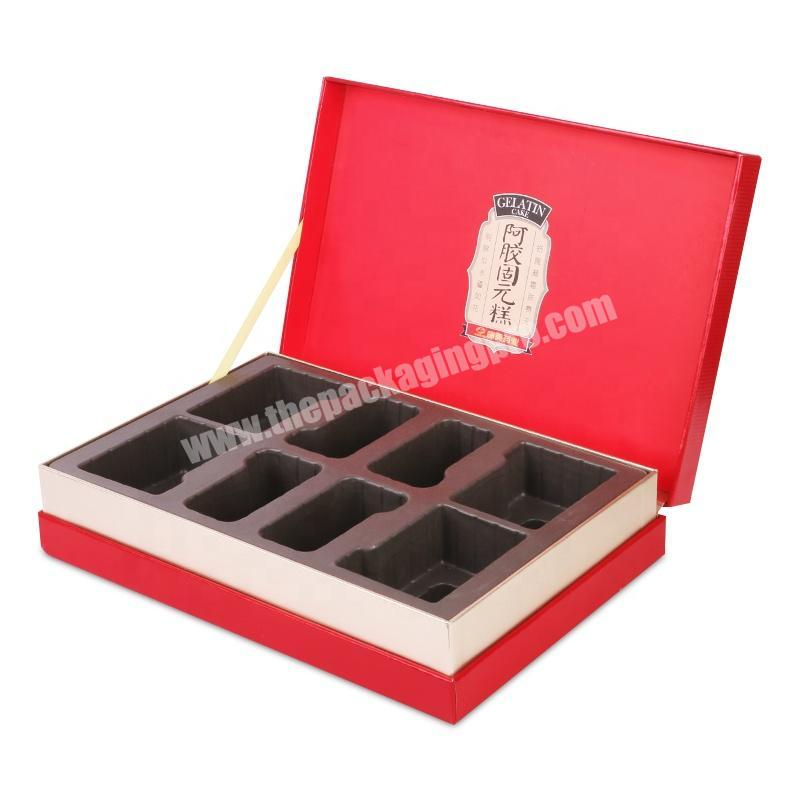 Glass bottle bird nest pastry chocolate cardboard gift boxes packaging with blister