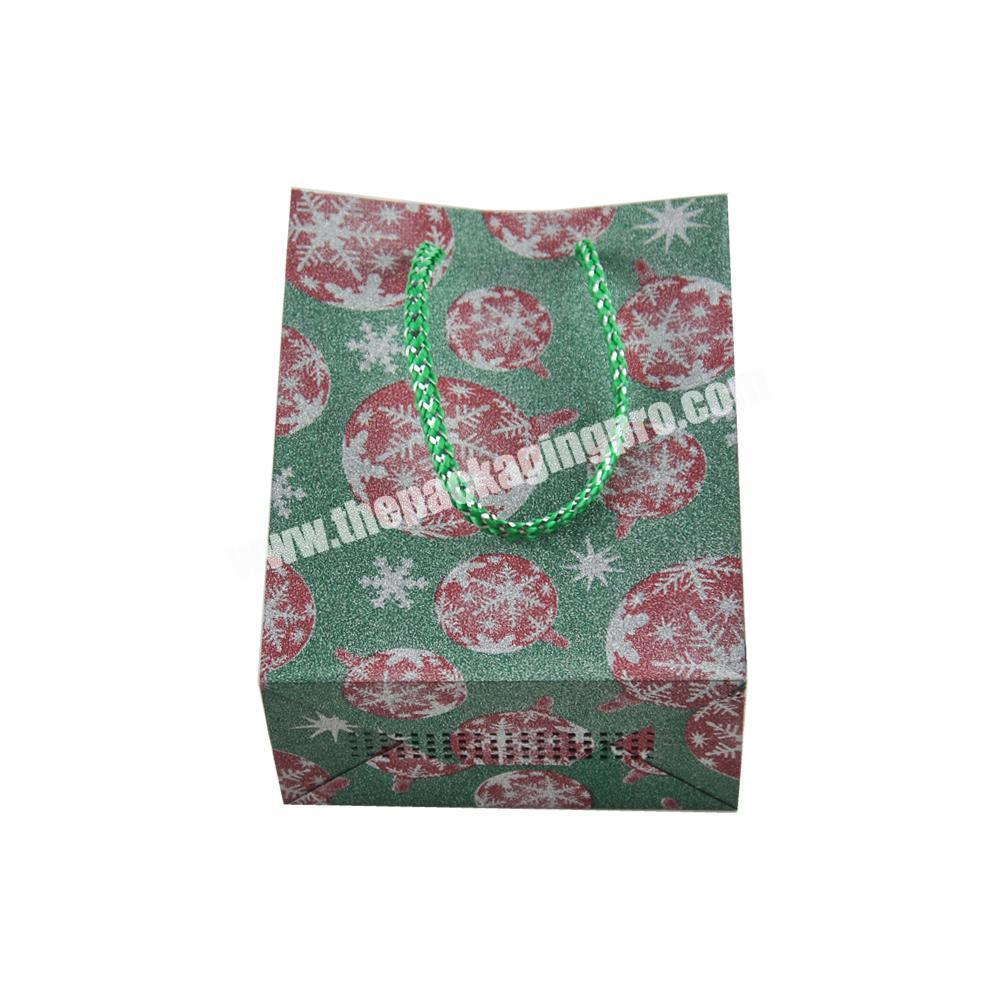Glitter Custom Logo Print Paper Folding Shopping Bag Paper with Ribbon Handle Shopping Bag Paper Custom Logo Print Shopping