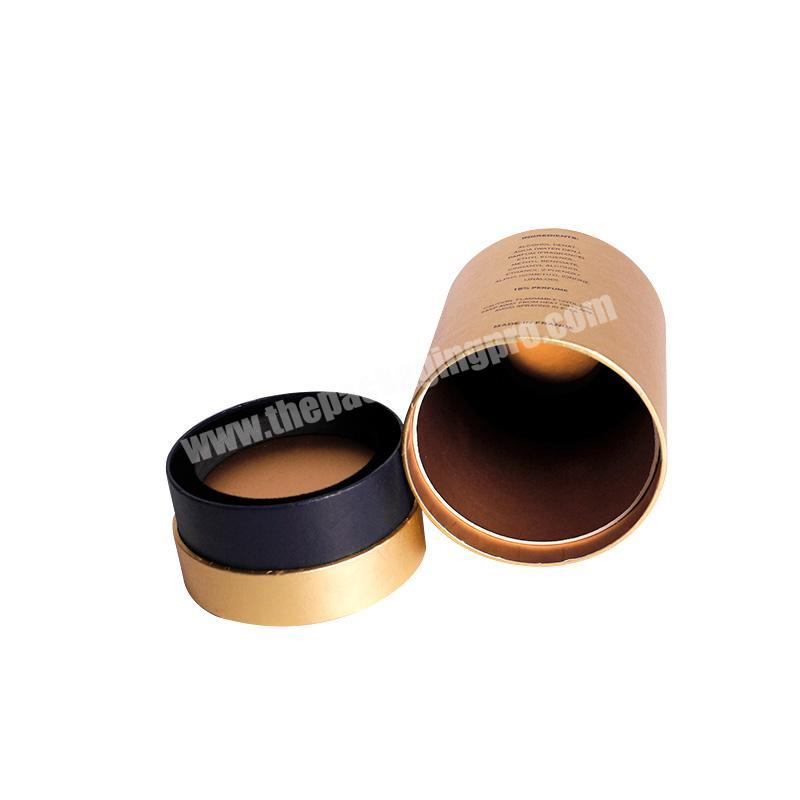 Supplier Gold cylinder shape paper perfume cardboard tube boxes for sale