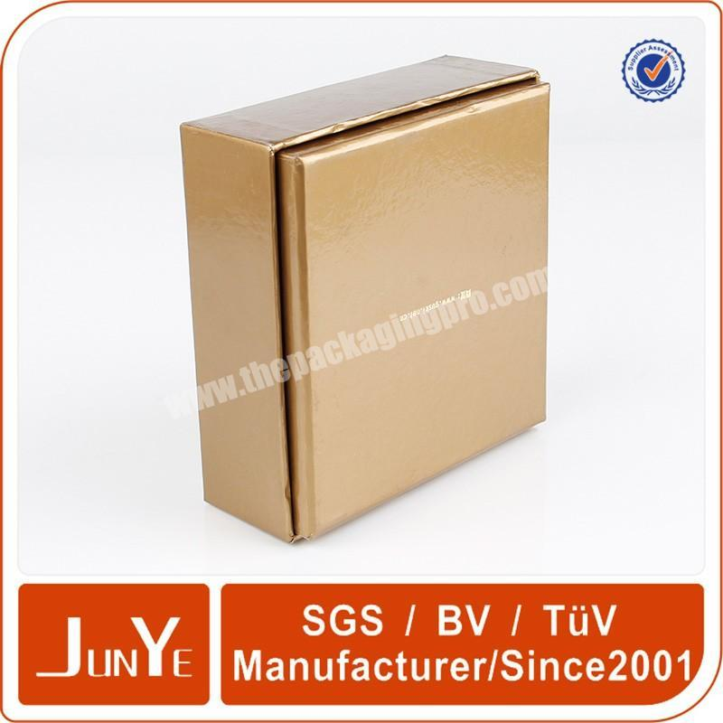 Supplier gold hot stamping cosmetic box packaging for essential oil