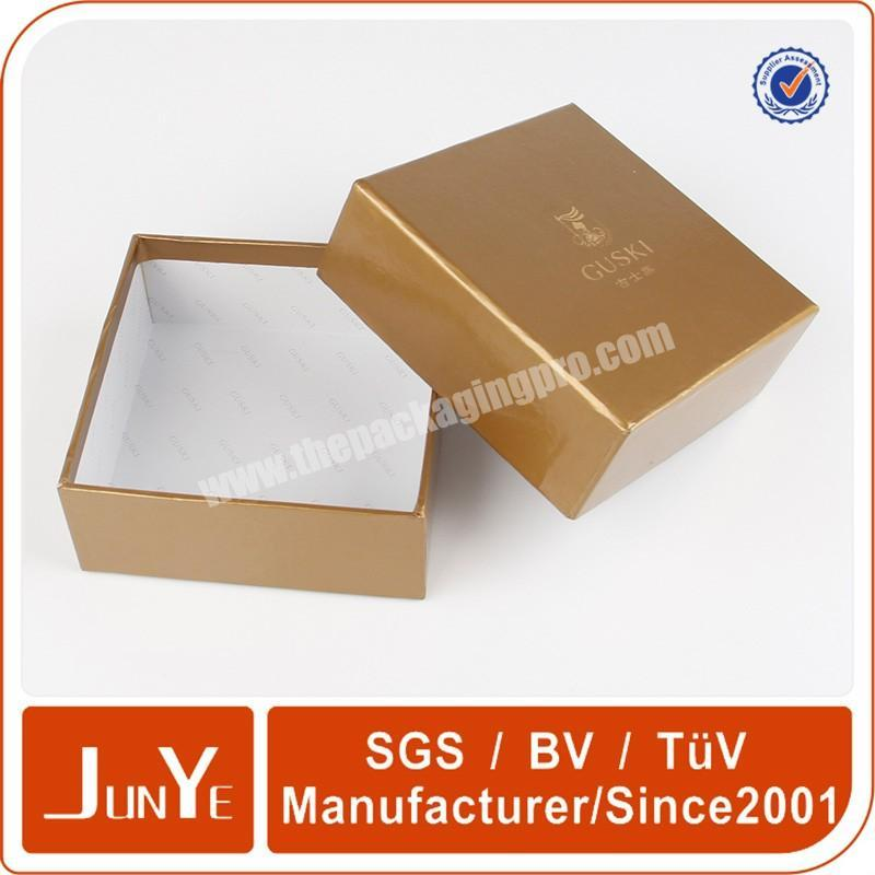 Factory gold hot stamping cosmetic box packaging for essential oil