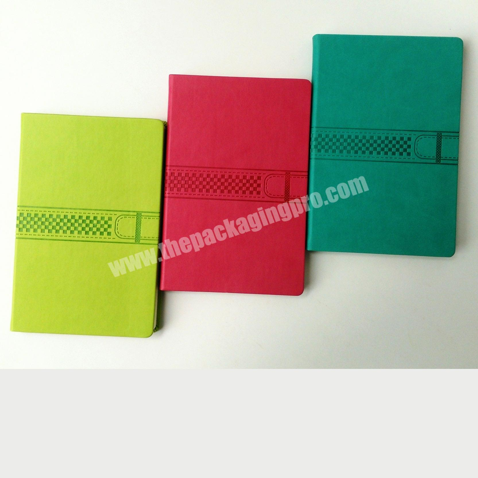 Good Design Leather Cover Diary A5 Hardcover  Notebook Embossed Logo Journal