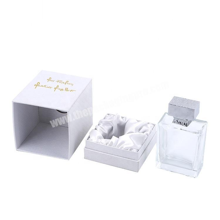 Handmade Cardboard Paper Packaging Cosmetic Essential Oil Perfume Bottle Gift Box With Silk Inserts
