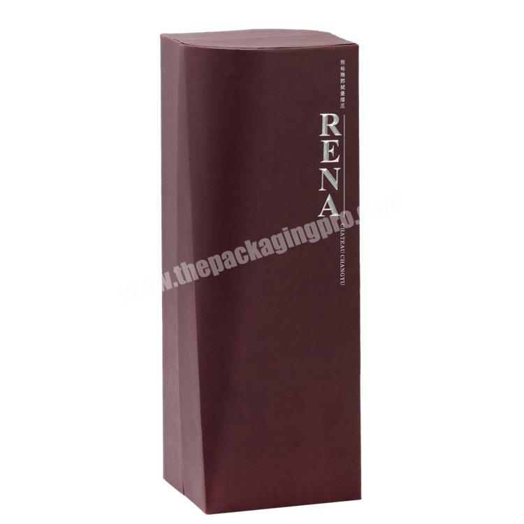 Custom Handmade Luxury  Customized Shape Clamshell Paper Box with Cold Foil Stamping  for Wine
