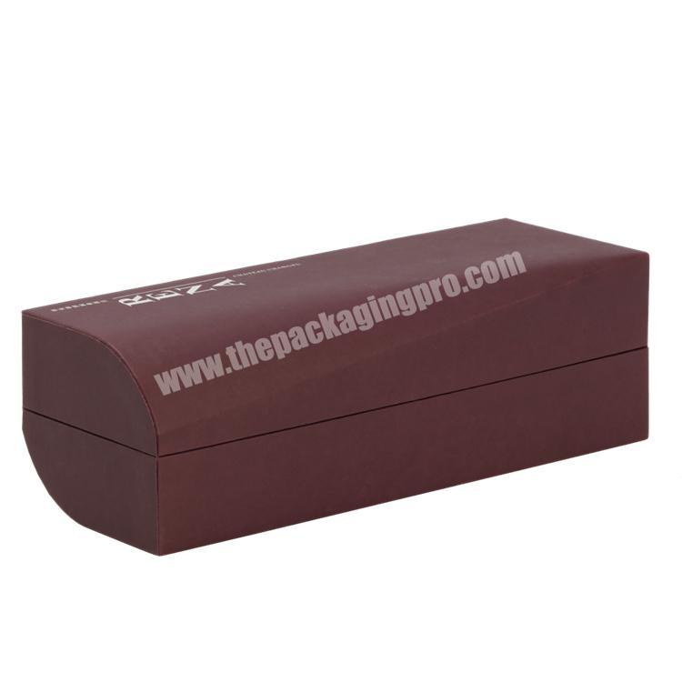Supplier Handmade Luxury  Customized Shape Clamshell Paper Box with Cold Foil Stamping  for Wine