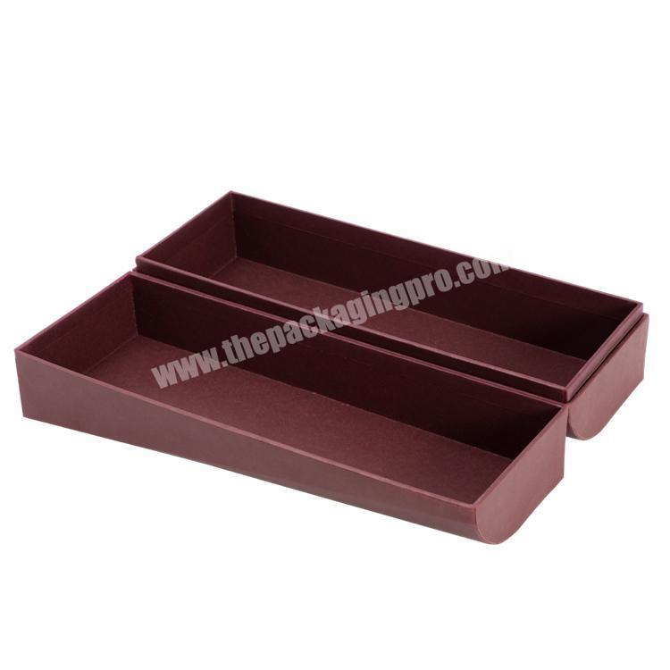 Wholesale Handmade Luxury  Customized Shape Clamshell Paper Box with Cold Foil Stamping  for Wine