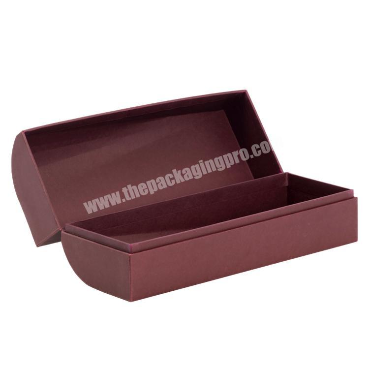 Factory Handmade Luxury  Customized Shape Clamshell Paper Box with Cold Foil Stamping  for Wine