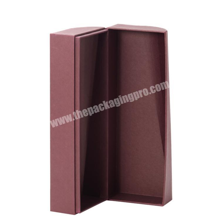 Manufacturer Handmade Luxury  Customized Shape Clamshell Paper Box with Cold Foil Stamping  for Wine