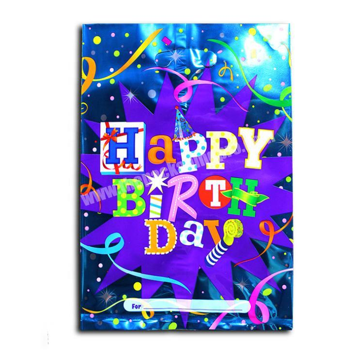 Happy birthday theme party aluminum film bag wedding candy packaging bag factory direct wholesale