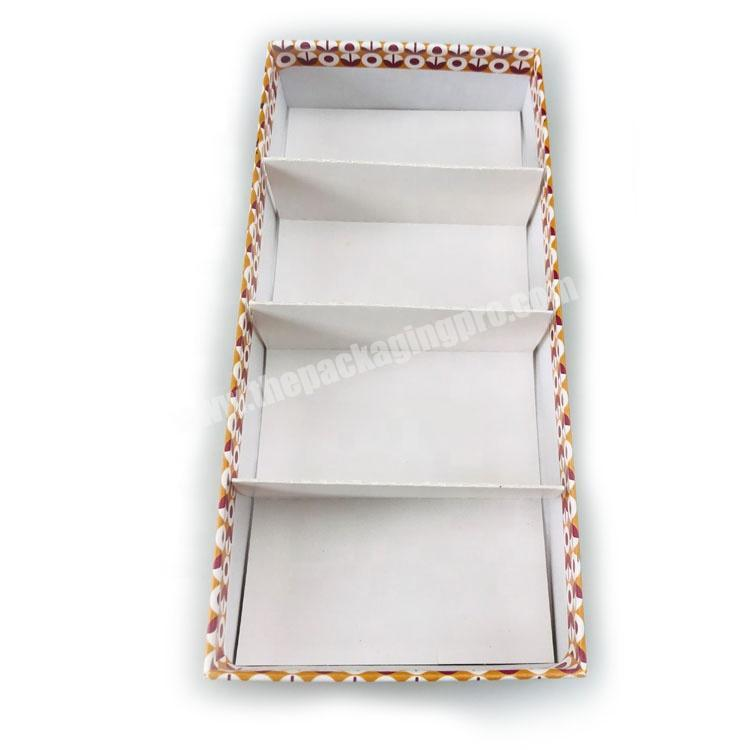Supplier hard paper custom printed top and base set up 4 PCS perfume soap packaging box with paper compartment