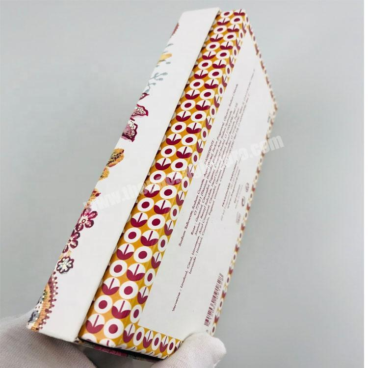 Factory hard paper custom printed top and base set up 4 PCS perfume soap packaging box with paper compartment
