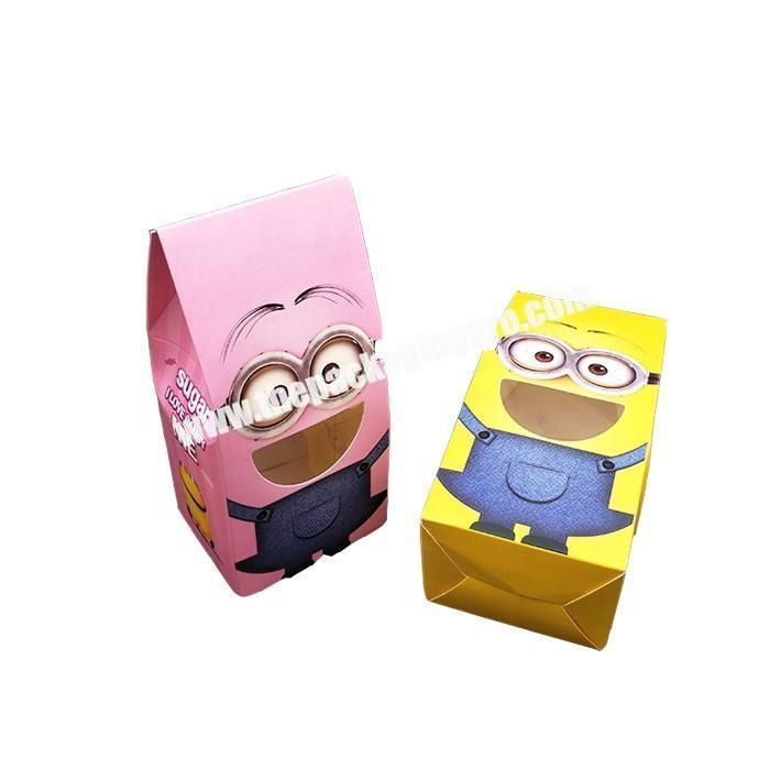 Hard quality custom shaped white colour small paper candy bag