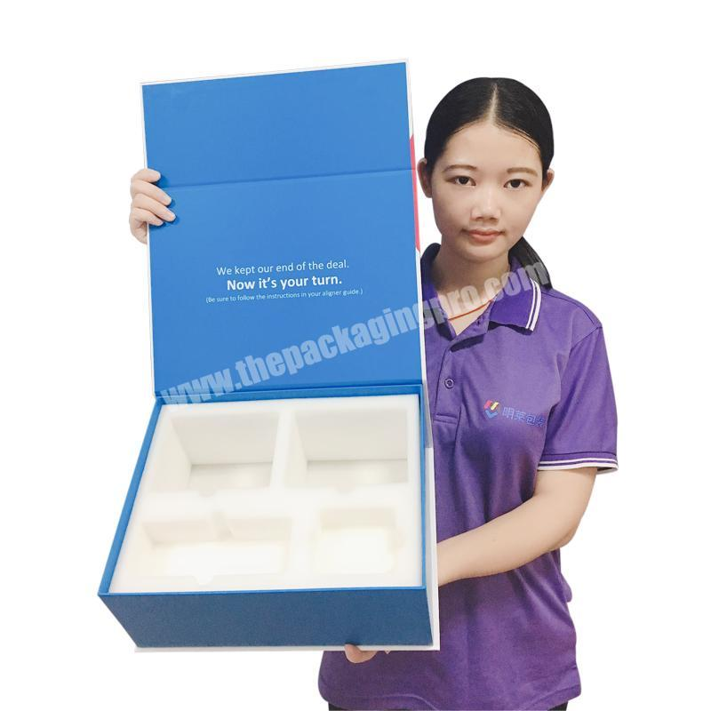 High End Custom Diecut Foam Empty Magnetic Product Gift Packaging CMYK Color Printed Hard Cardboard Paper Box