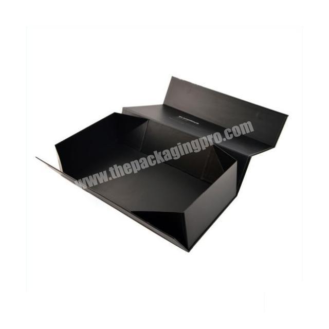 High End Custom Luxury Black Matt Packaging Boxes with Spot Uv Embossed Logo