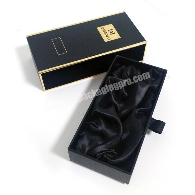 Supplier High end customized 10ml black perfume box