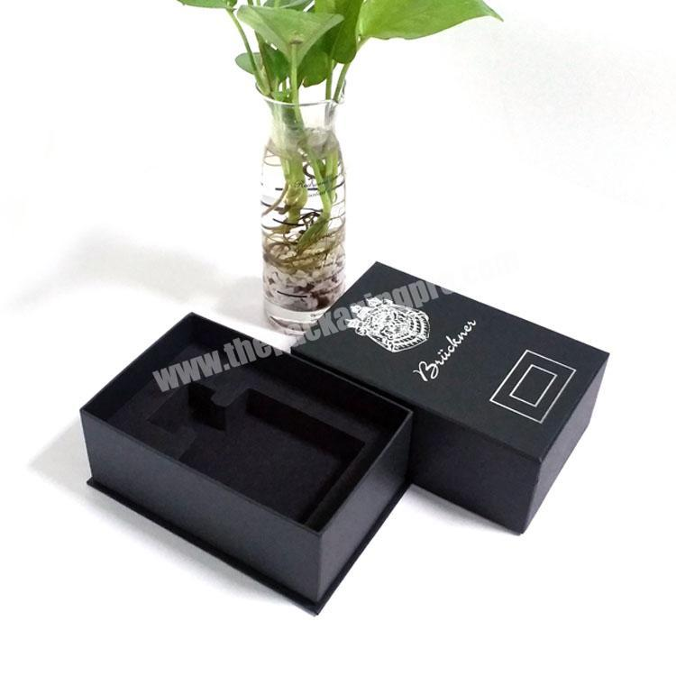 Wholesale High end customized 10ml black perfume box