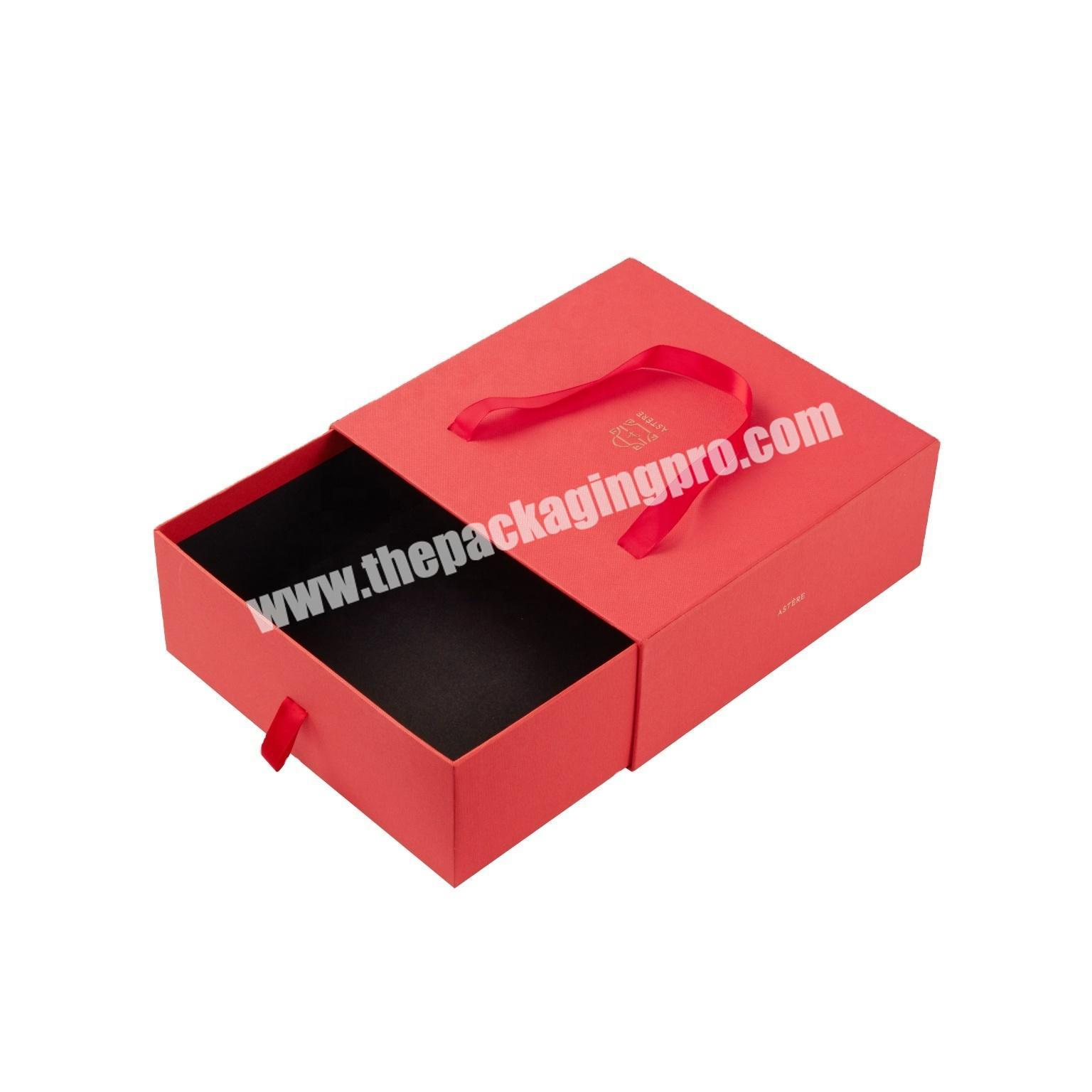 High-end customized red fashion for gift perfume display storage box