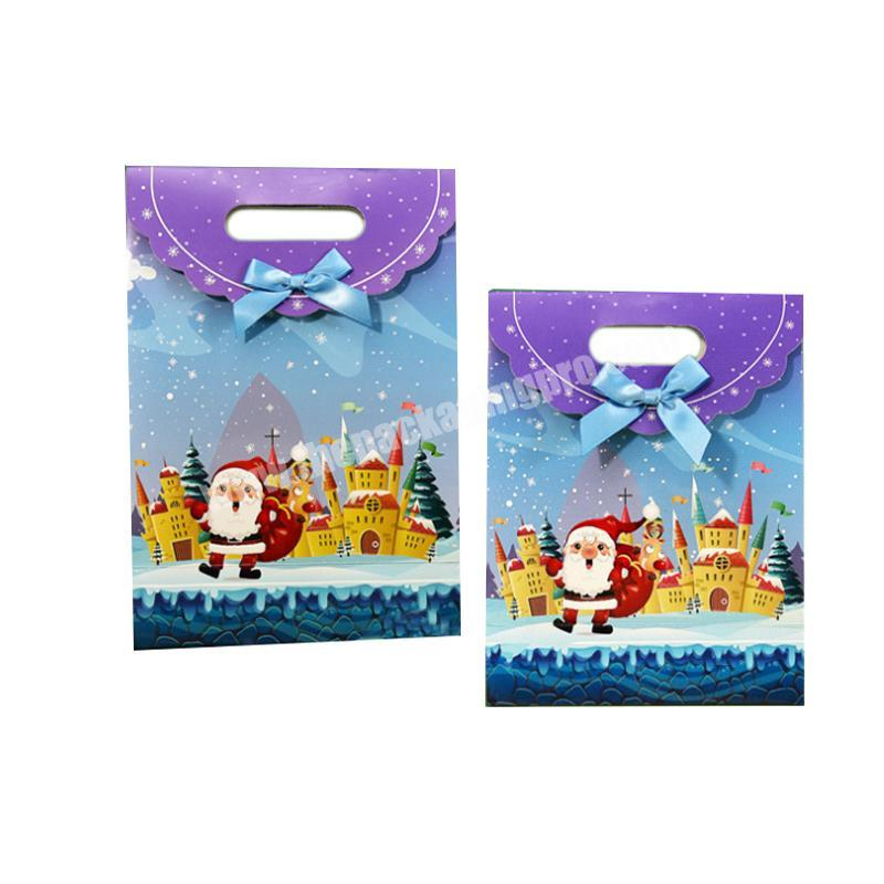 High end paper ribbo candy small gift christmas paper bag