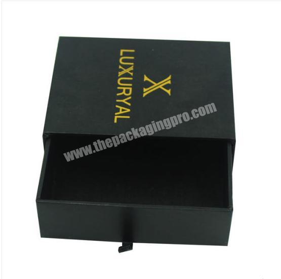 High End Sliding Paper Drawer Hair Extension Box Packaging
