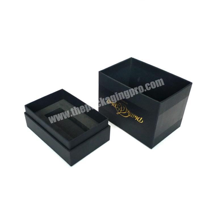 High Grade Black Printed Perfume Packing Paper Box With Hot Foil Handmade