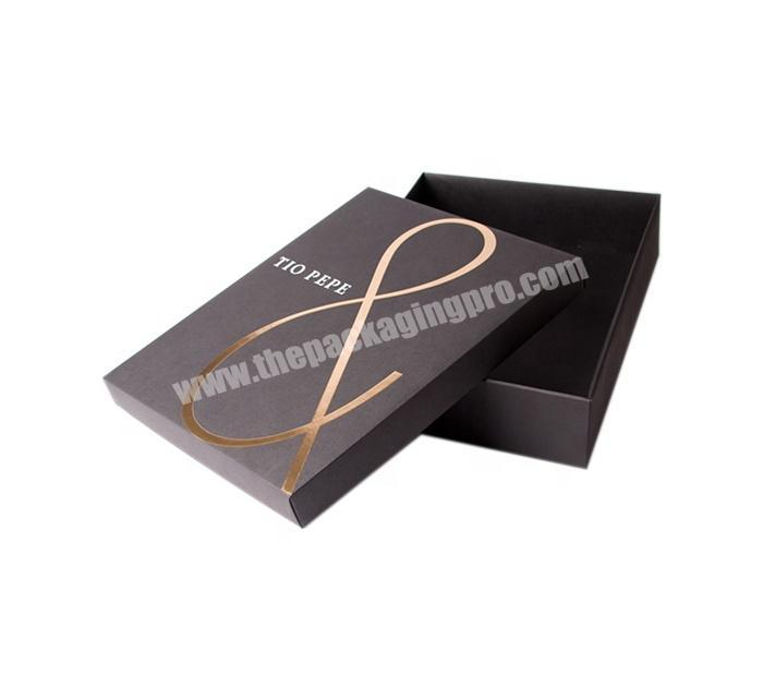High Quality 4C Custom Printable Foil Stamping on Lift-off Lid Rigid Box Set up paper box for packaging