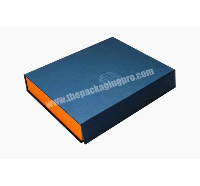 High Quality 4C Custom Printable luxury custom Book Style Rigid Box with Paper Material
