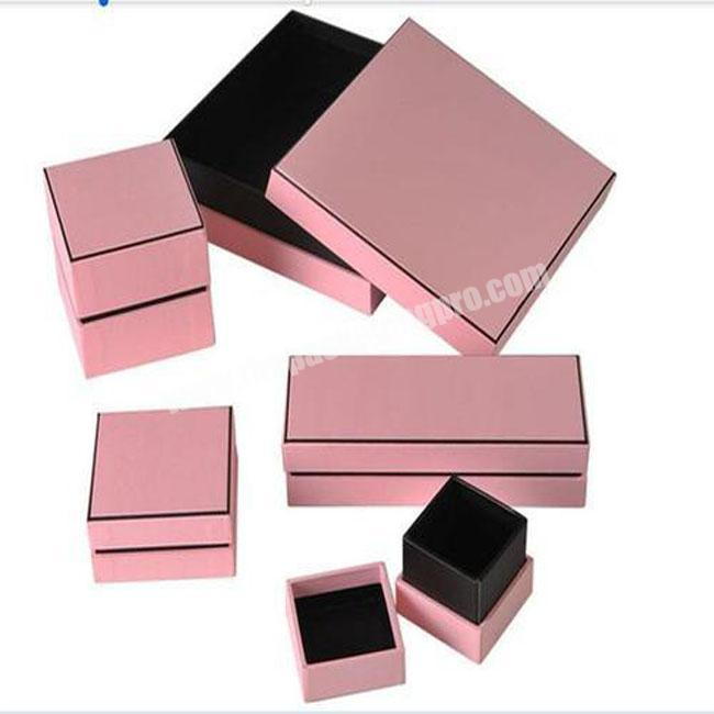 High Quality 4C Custom Printable Paper Material Made Luxury Cotton Filled Jewelry Boxes