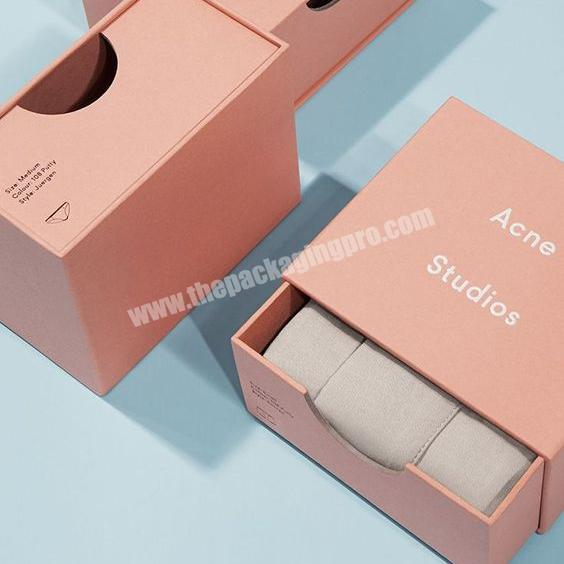 High Quality 4C Paper Material Made Custom Printable Sliding Rigid Box Packaging