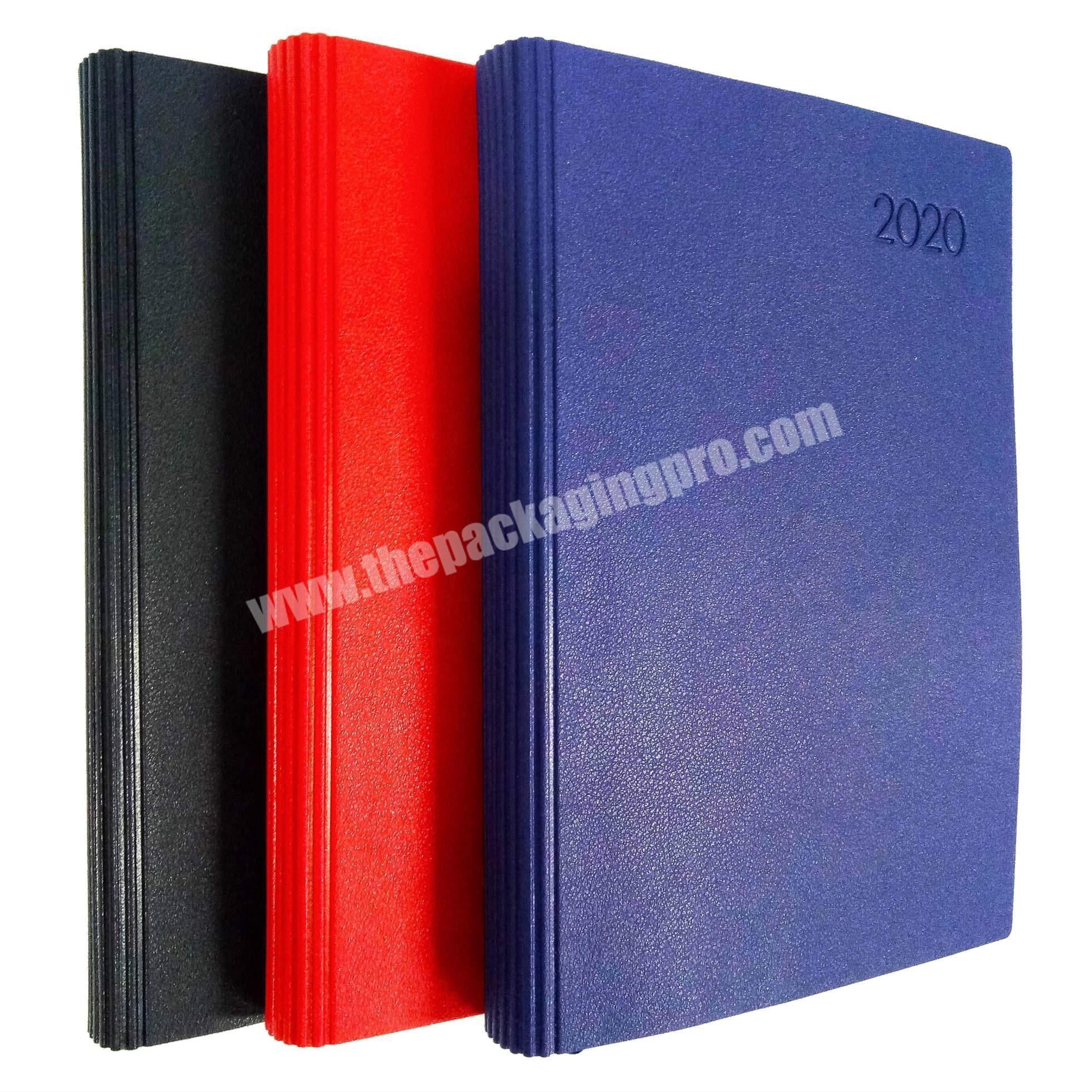 High Quality A5 Leather Notebook Soft Cover Diary Embossed Logo Custom Journal