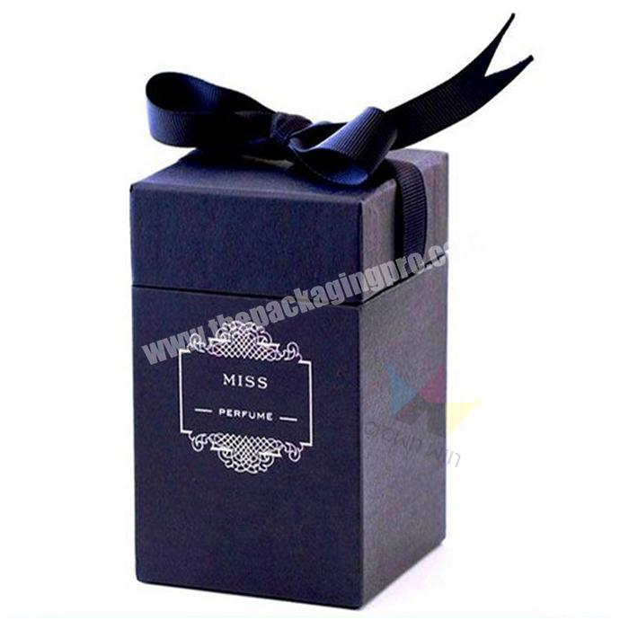 High Quality Cardboard Paper Perfume Bottle Box With Ribbon