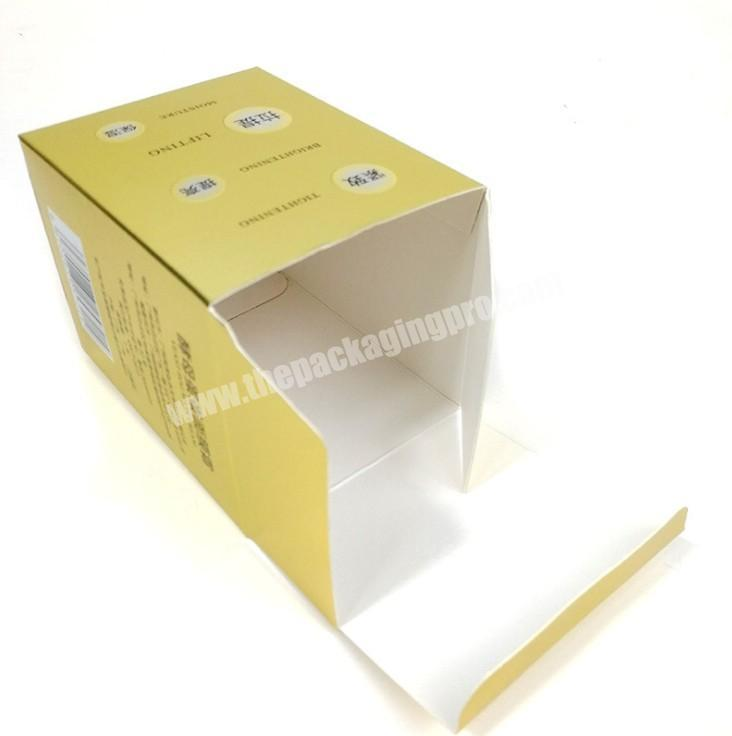 High Quality Cheap Price Face Masked Care Foldable Paper Gold Boxes Gift Packaging Custom Box Gift Packaging For Sending