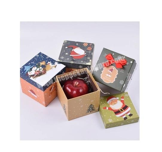 High Quality CMYK Custom Printed Christmas Eve Apple Gift Boxes with your design