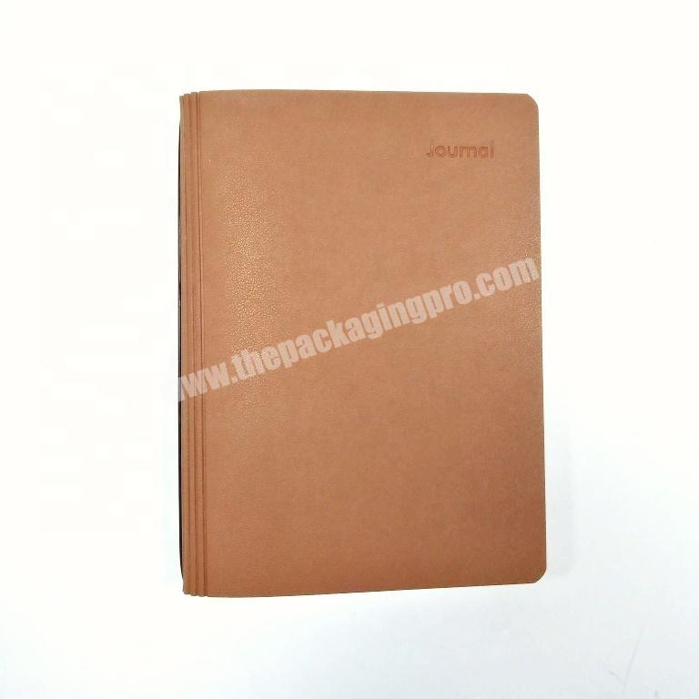 High quality college notebook leather diary customized journal promotional agenda